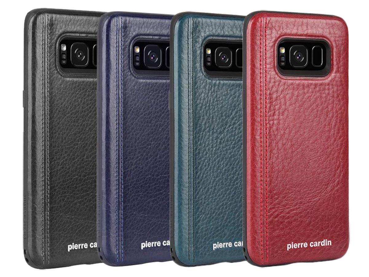 Cuir Bleu Cas Tpu Pour Samsung Galaxy S8, Plus