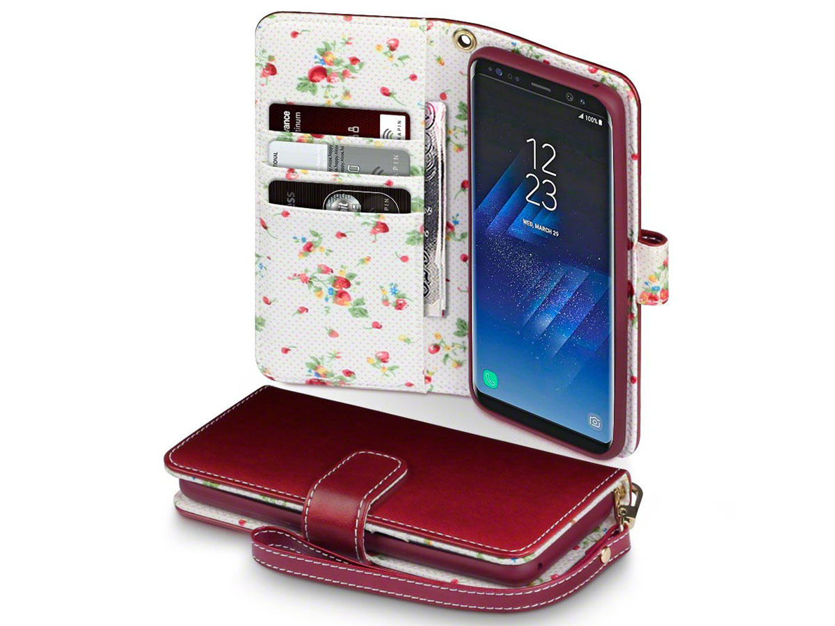 CaseBoutique Flower Bookcase - Samsung Galaxy S8 hoesje