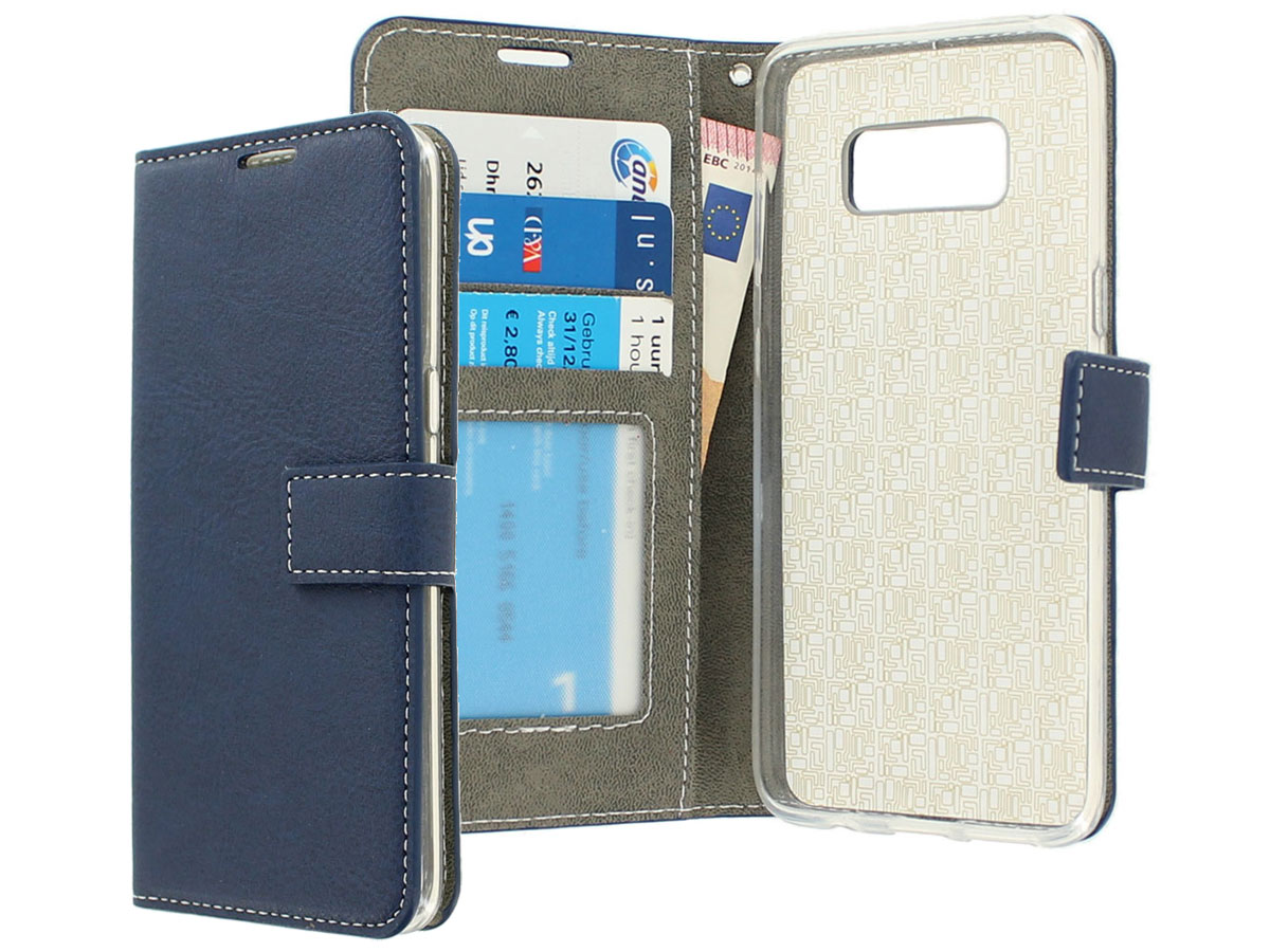 Deluxe Bookcase - Samsung Galaxy S8 hoesje (Navy)