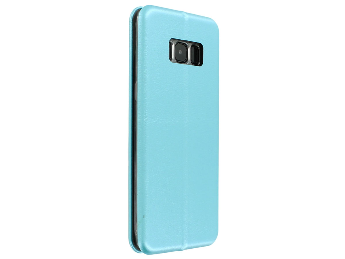 Elegance Bookcase Turquoise - Samsung Galaxy S8 hoesje