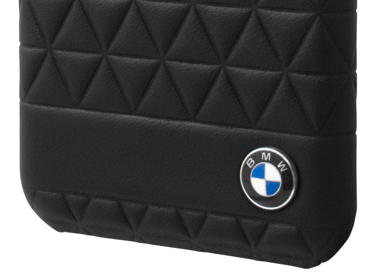 BMW Hexagon Hard Case - Leren Samsung Galaxy S8+ hoesje