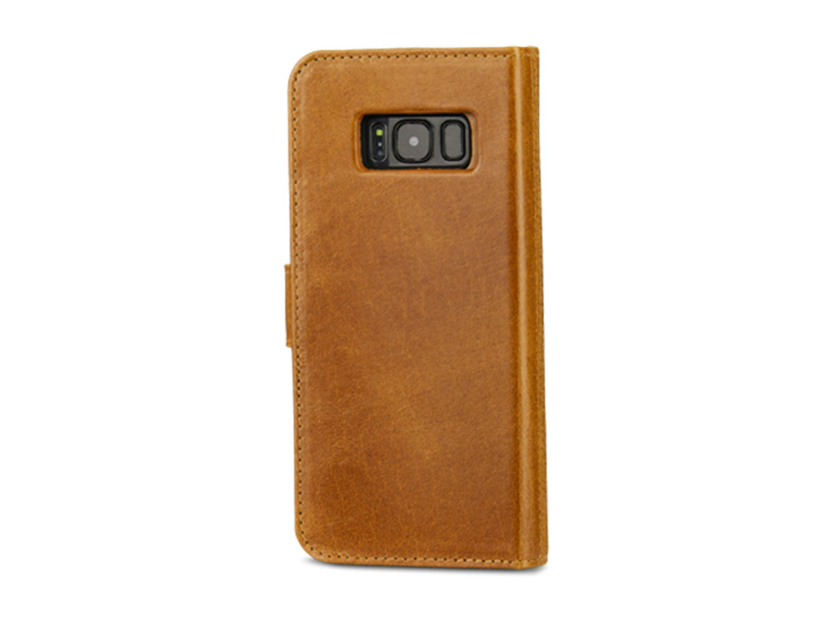 Dbramante Lynge 2 in 1 Case Cognac - Galaxy S8+ hoesje