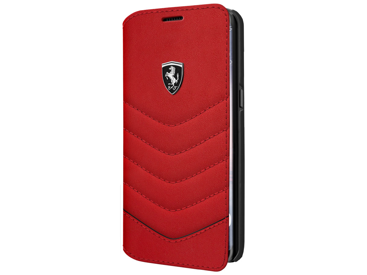 Ferrari Leather Bookcase - Samsung Galaxy S8+ hoesje