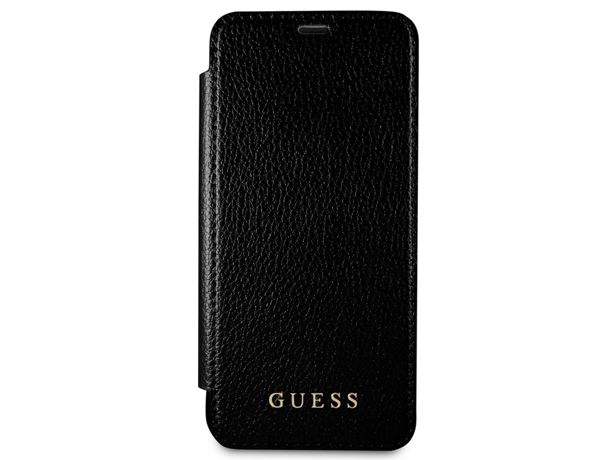 Guess Iridescent Bookcase Zwart - Galaxy S8+ hoesje
