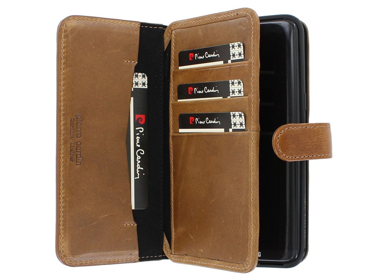 Pierre Cardin Wallet Case - Samsung Galaxy S8+ hoesje Bruin