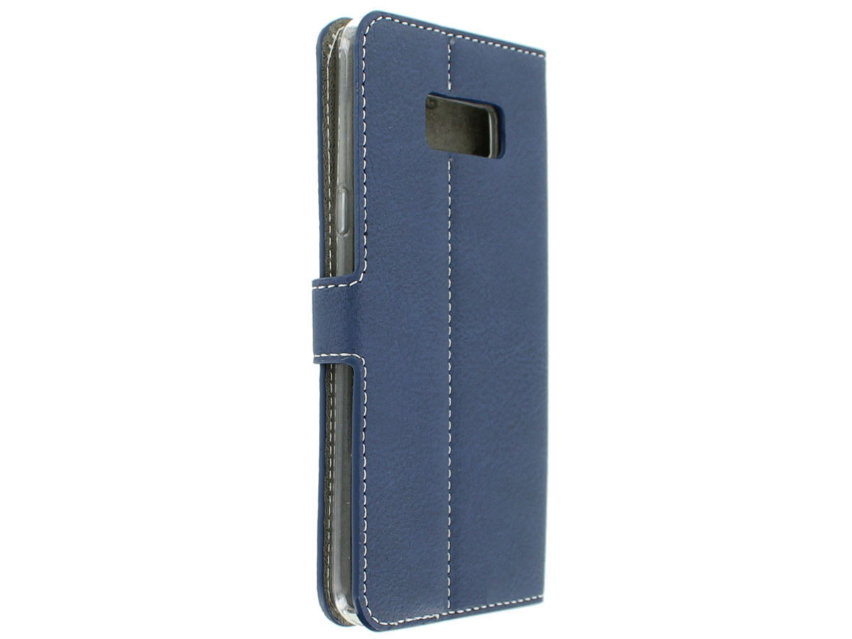 Deluxe Bookcase - Samsung Galaxy S8+ hoesje (Navy)