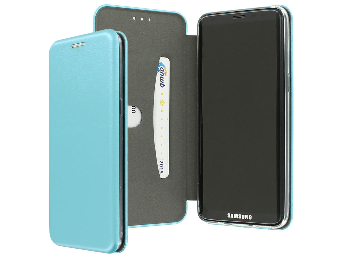 Elegance Bookcase Turquoise - Samsung Galaxy S8+ hoesje