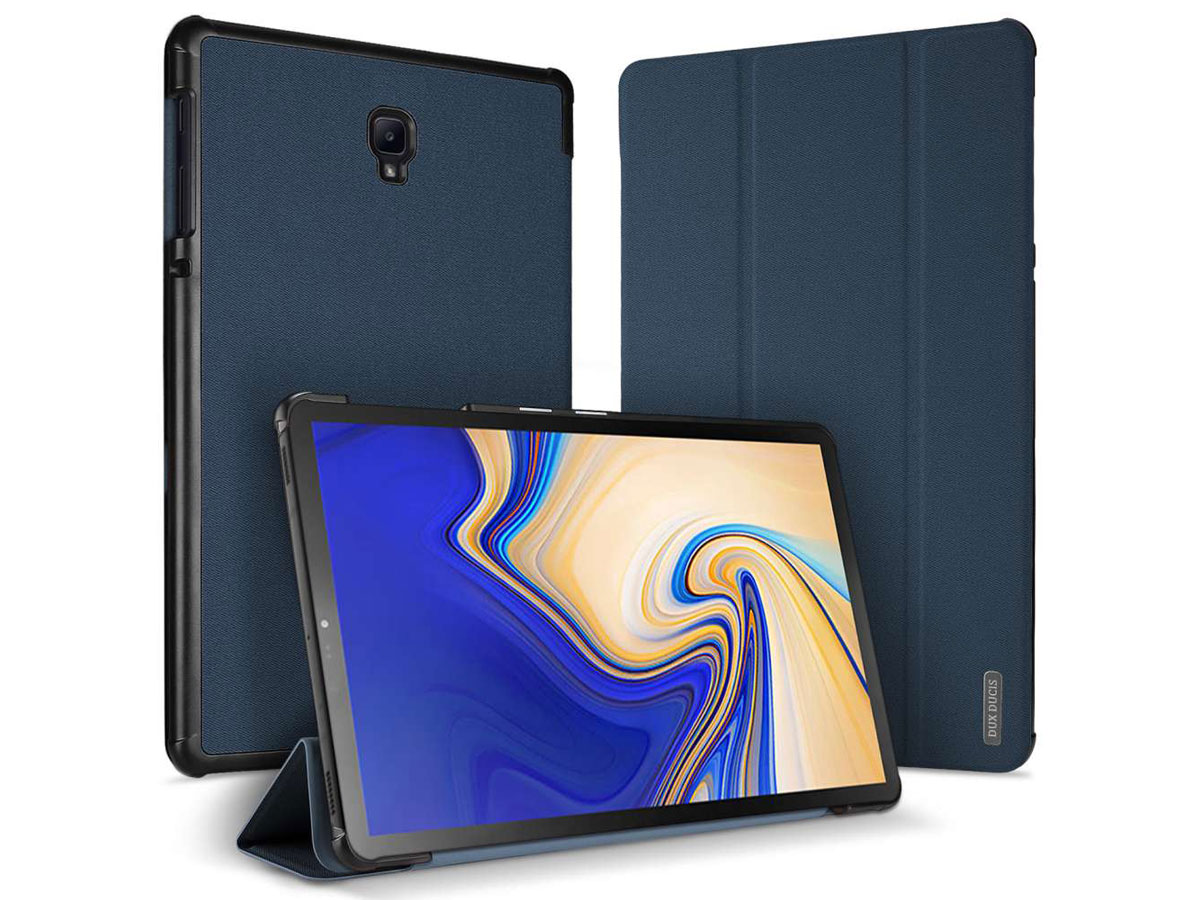Dux Ducis Trifold Case Navy - Galaxy Tab S4 10.5 hoesje Donkerblauw