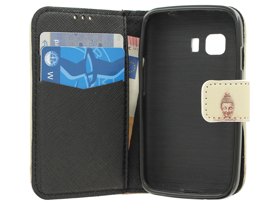Boeddha Book Case - Samsung Galaxy Young 2 Hoesje