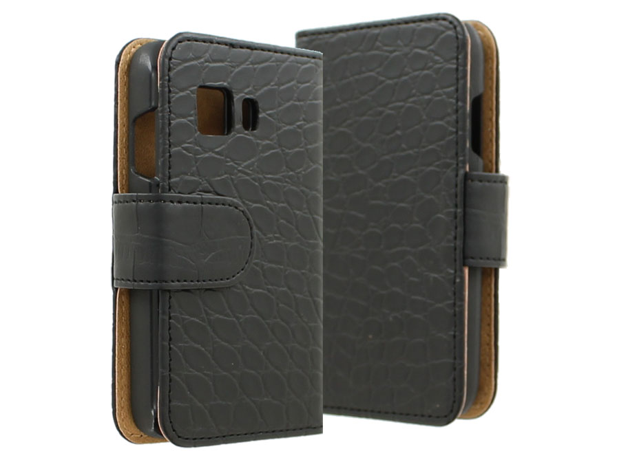 Croco Book Case Hoesje voor Samsung Galaxy Young 2