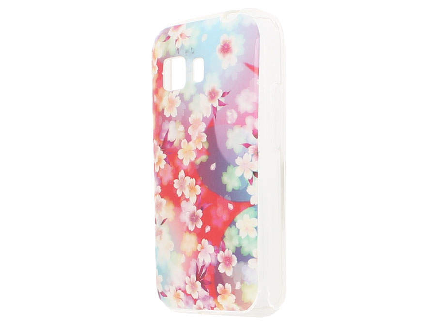 Flower TPU Soft Case - Hoesje voor Samsung Galaxy Young 2