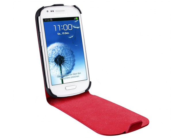 Artwizz Seejacket Leather Flip+ Color Case voor Galaxy S3 Mini (i8190)
