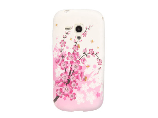 Chinese Blossom Soft Case Hoesje voor Samsung Galaxy S3 Mini (i8190)