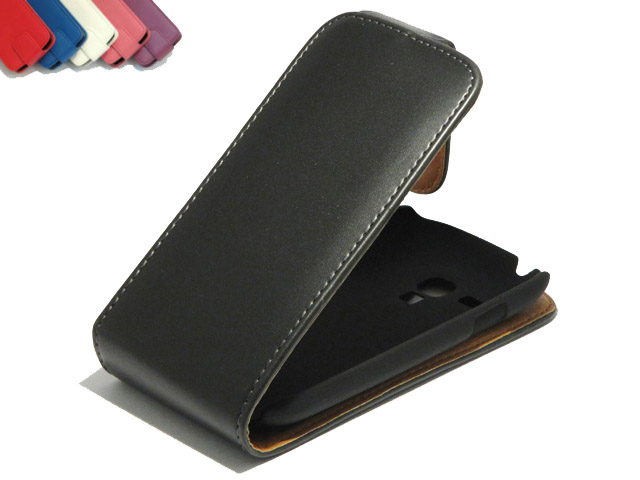 Classic Leather Flip Case Samsung Galaxy S3 Mini