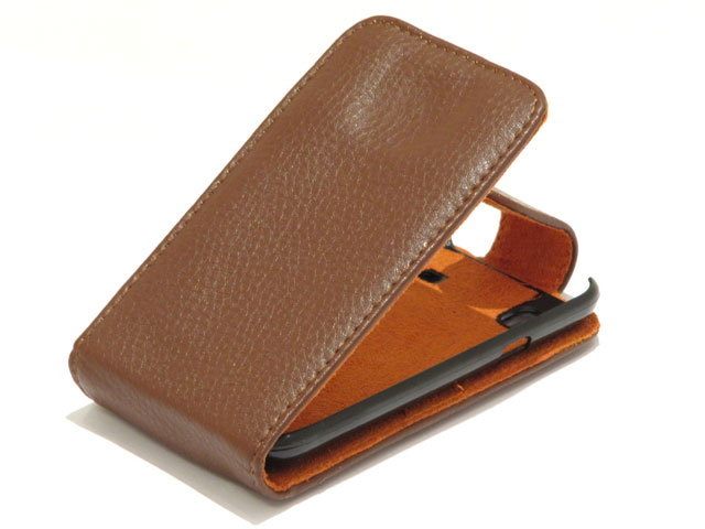 Exclusive Leather Flip Case voor Samsung Galaxy S (Plus)