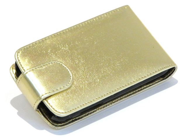 Golden Leather Case Samsung Galaxy S (Plus)