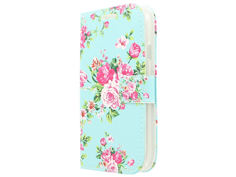 Flower Book Case Samsung Galaxy Grand Neo (Plus) hoesje