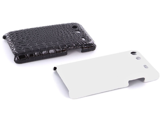 Croco Back Case Hoesje voor Samsung Galaxy S Advance i9070