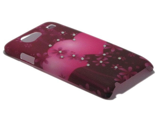 Crystals ''Big Hearts'' Case Samsung Galaxy S Advance (i9070)