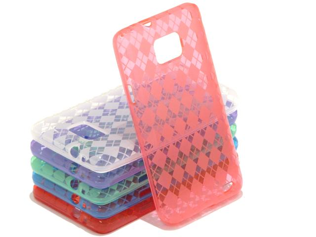Argyle TPU Case Hoes voor Samsung Galaxy S2 i9100