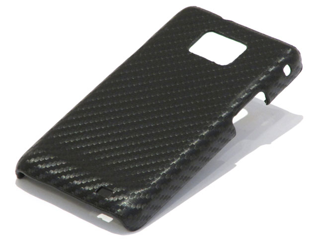 Carbon Back Case Cover voor Samsung Galaxy S2 (i9100)