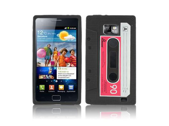 Cassette Tape Silicone Skin Hoes voor Samsung Galaxy S2