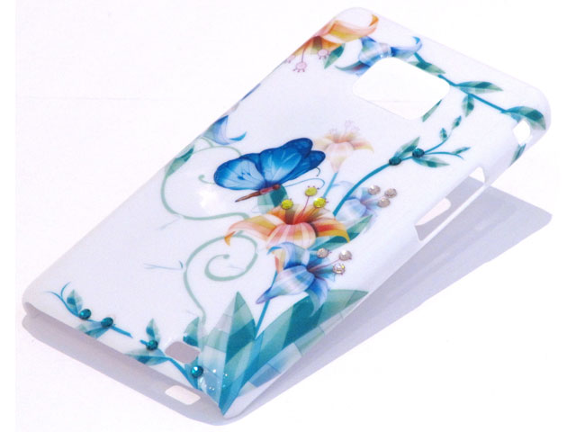 Crystals Butterfly Art Case Samsung Galaxy S2 i9100