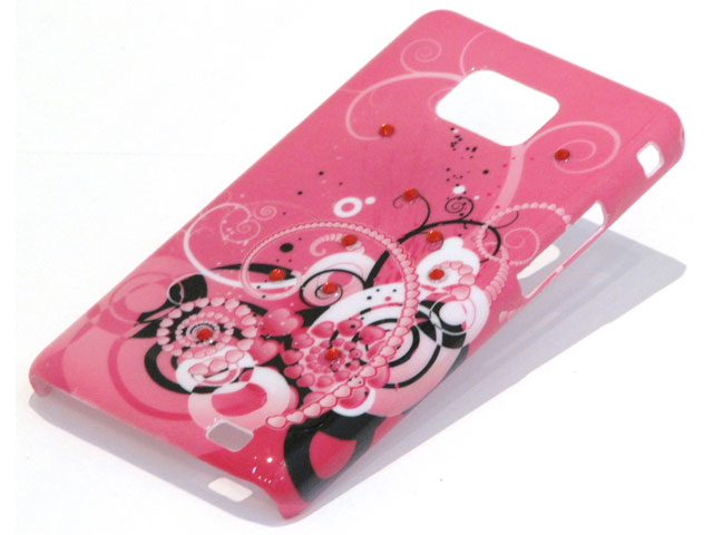 Crystals Funky Hearts Case Samsung Galaxy S2 i9100