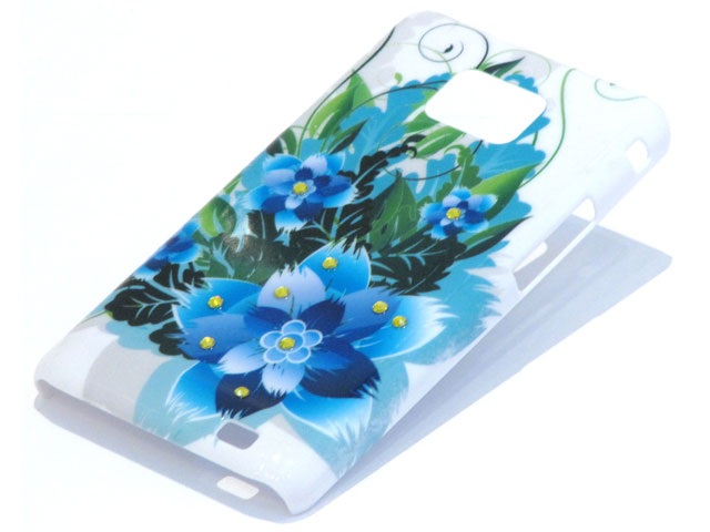 Crystals Tropic Flowers Case Samsung Galaxy S2 i9100