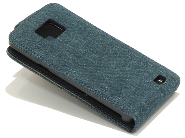 Denim Jeans Slim Elegant Leather Case Samsung Galaxy S2