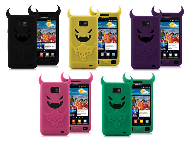 Devil Silicone Skin Case Hoesje voor Samsung Galaxy S2 i9100