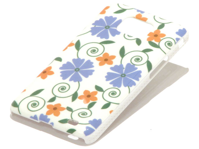 Flower Design Hard Case Hoesje Samsung Galaxy S2 (i9100)