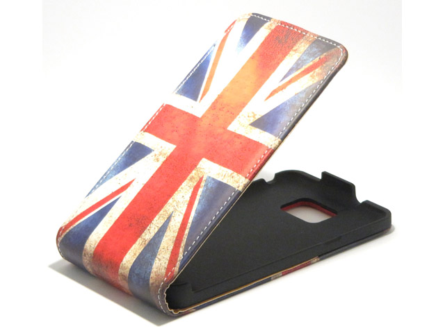 Great Brittain Vintage Flip Case voor Samsung Galaxy S2 (Plus)