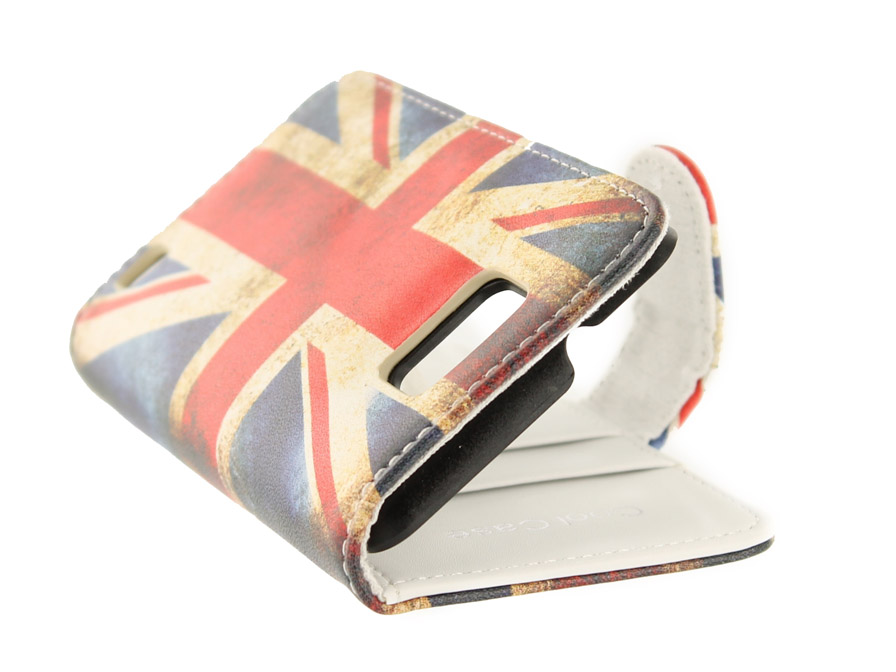 Great Brittain Vintage Wallet Case voor Samsung Galaxy S2 (Plus)