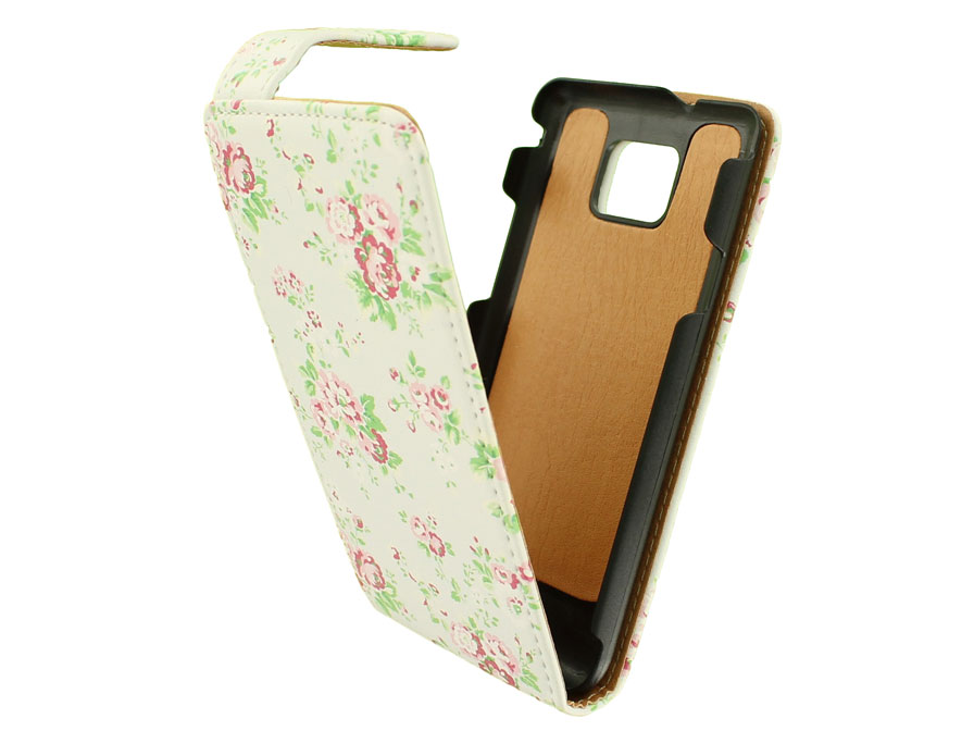 Flower Flip Case voor Samsung Galaxy S2