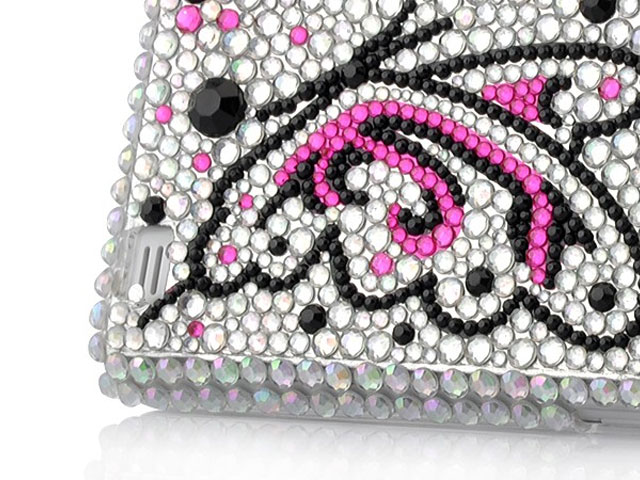 Butterfly Diamond Hard Case voor Samsung Galaxy S2 i9100