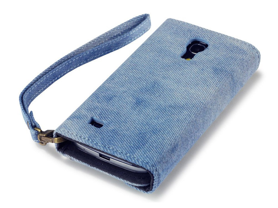 Covert Studded Denim Trifold Wallet Case Samsung Galaxy S4 Mini