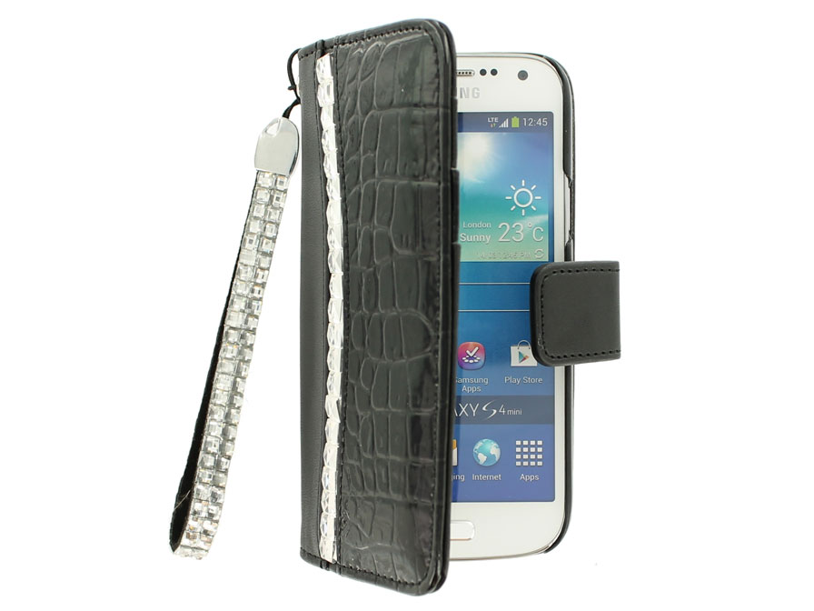 Croco Elegant Wallet Case - Hoesje voor Samsung Galaxy S4 Mini