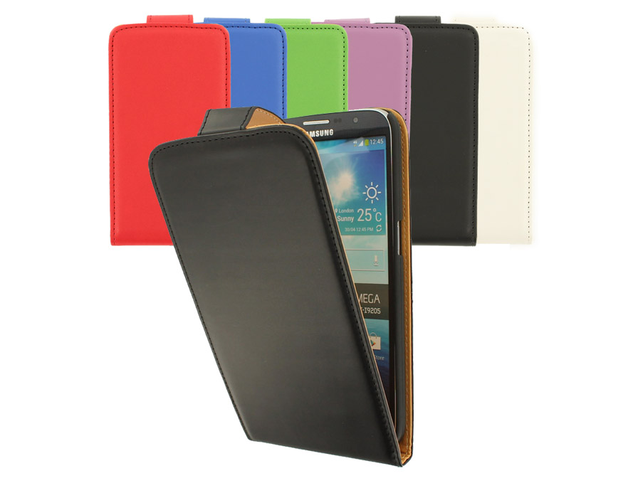 Classic Leather Case voor Samsung Galaxy Mega 6.3
