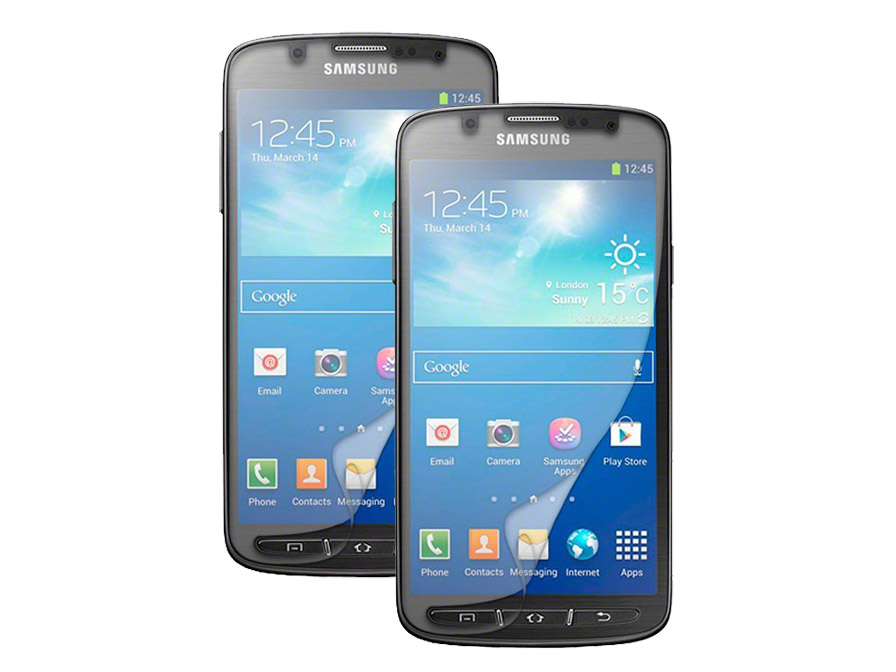 2-pack Clear Screenprotector Samsung Galaxy S4 Active (i9295)