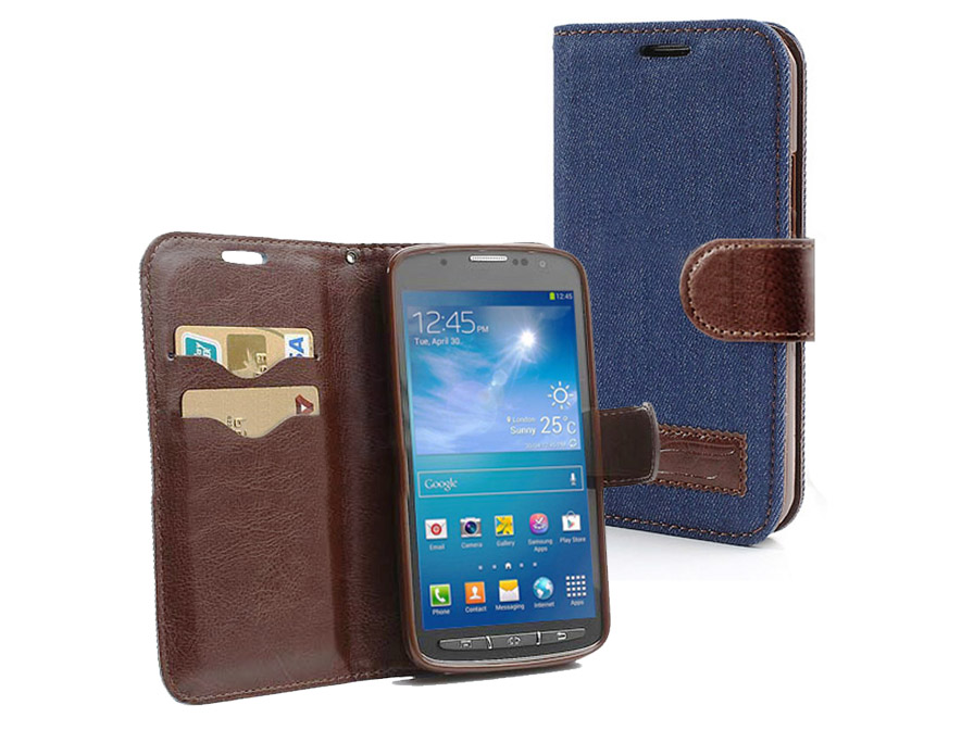 Denim & Jeans Wallet Case Samsung Galaxy S4 Active (i9295)