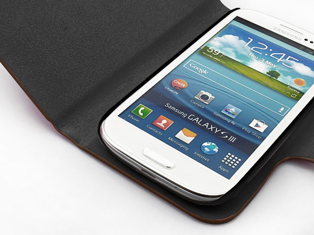 Classic Leather Sideflip Case Samsung Galaxy S3 (i9300)