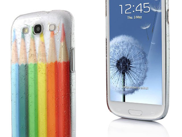 Colorful Pencils Transparant White-Only Case Samsung Galaxy S3 (i9300)