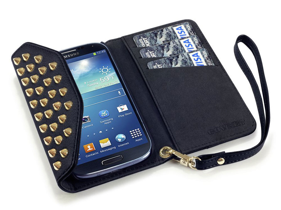 Covert Studded Trifold Wallet Case - Samsung Galaxy S3 (Neo) Hoesje