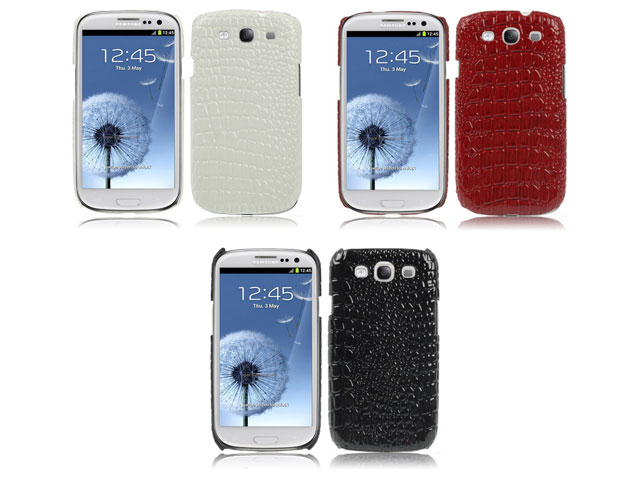 Croco Back Case Hoesje voor Samsung Galaxy S3 (i9300)