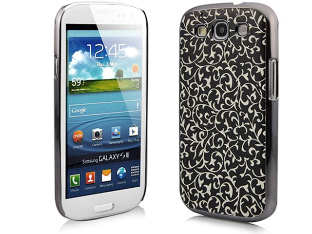 Deluxe Floral Hard Case Hoes voor Samsung Galaxy S3 (i9300)