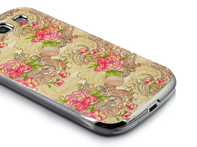 Deluxe Flower Paisley Hard Case Hoes voor Samsung Galaxy S3 (i9300)