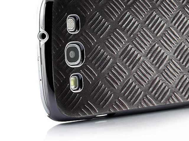 Deluxe Metal-look Hard Case Hoes voor Samsung Galaxy S3 (i9300)