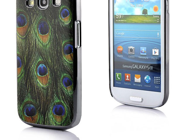 Deluxe Peacock Hard Case Hoes voor Samsung Galaxy S3 (i9300)