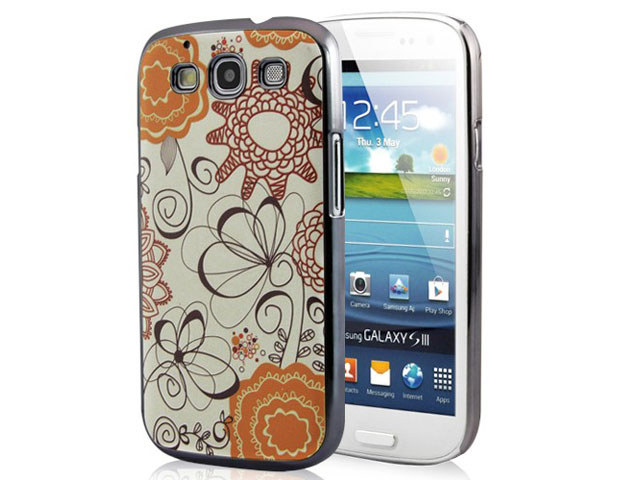 Deluxe Retro Flower Hard Case Hoes voor Samsung Galaxy S3 (i9300)